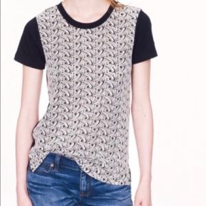 J. Crew Embroidered Eyelet Front Cotton Top NWOT
